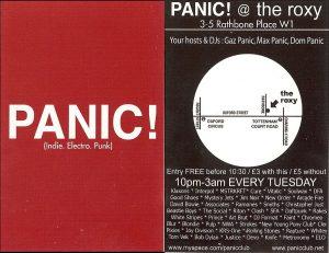Panic! flyer