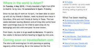 Travels of Adam May 2010 Newsletter