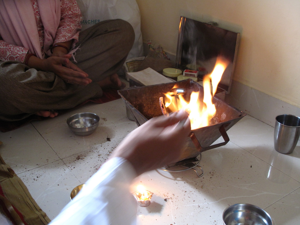 Havan fire ceremony