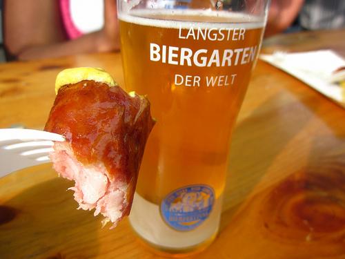Berlin Beer Festival - beer & sausage