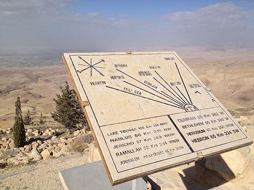 Map at Mount Nebo