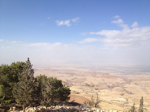 Mount Nebo viewpoint over the Middle East