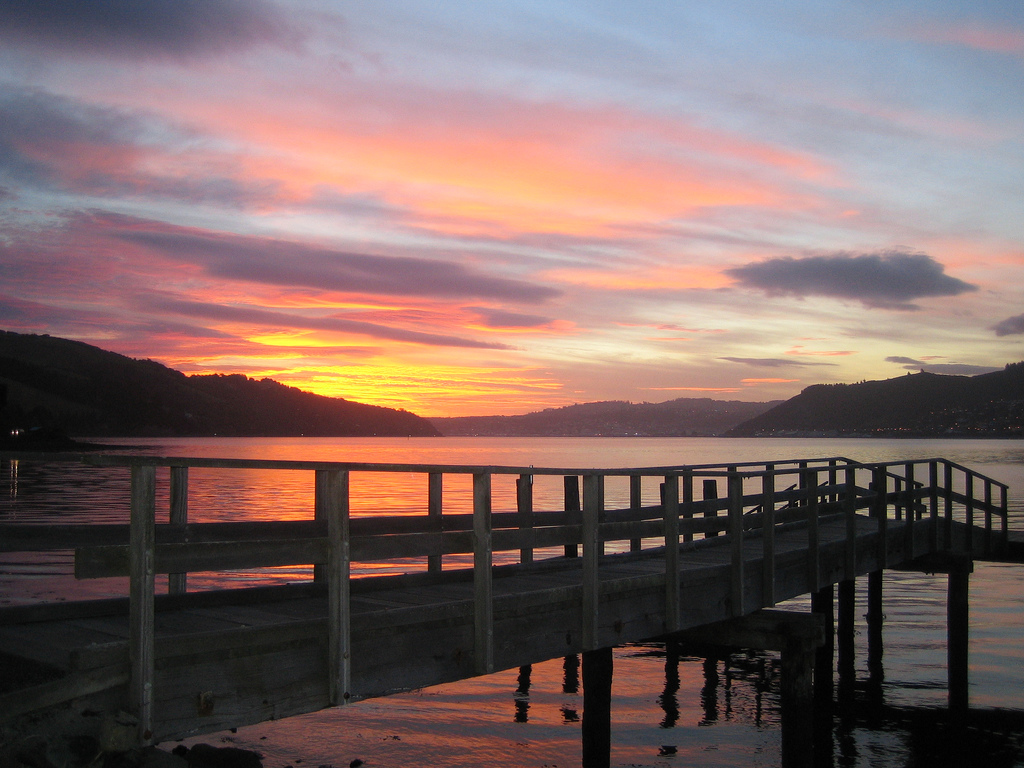 Sunset in Dunedin, New Zealand