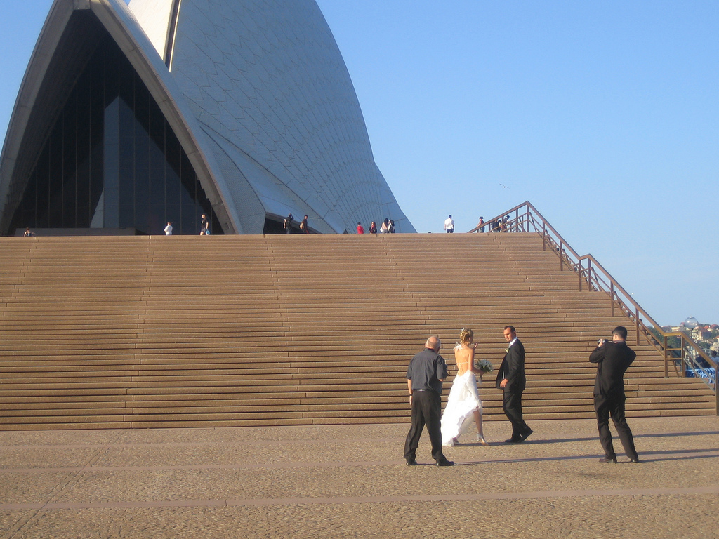 Wedding photo at the Sydney Opera House