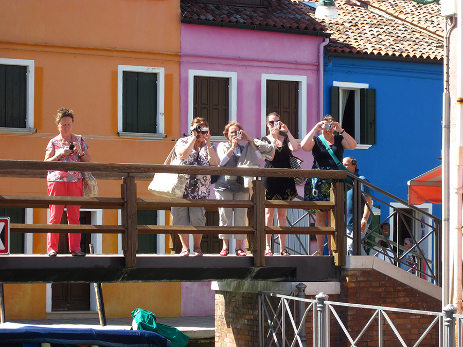 Tourists on Burano island