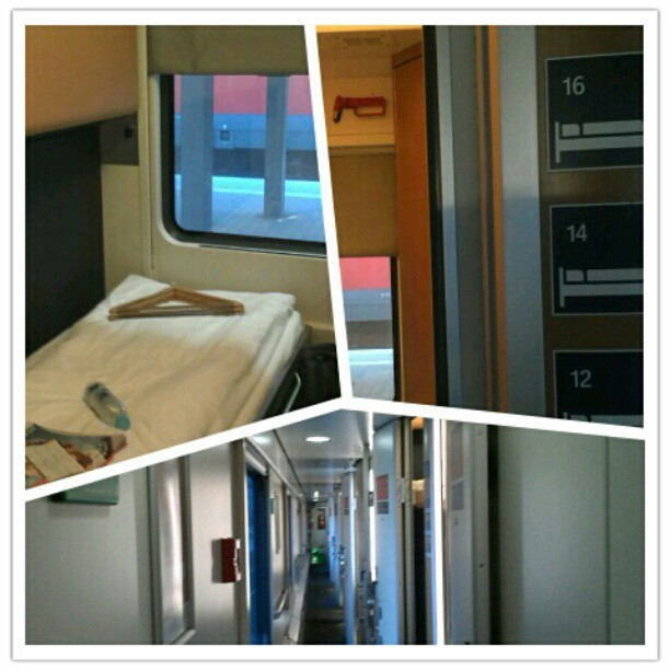 City Night Line sleeper (overnight train from Munich to Venice)