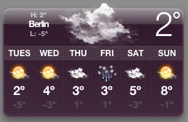 Berlin weather is terrible!