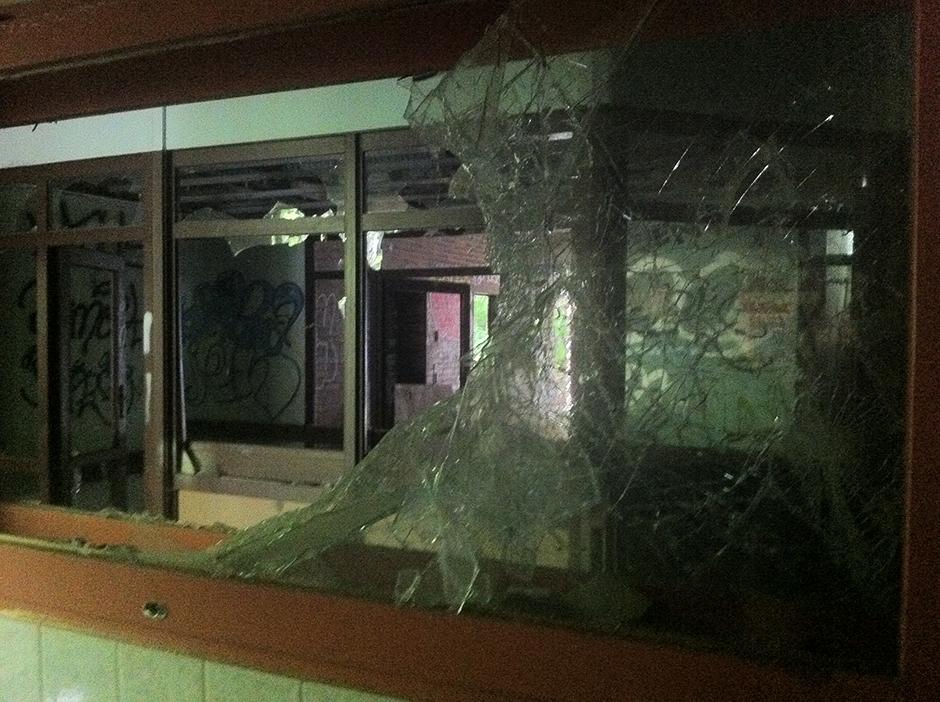 broken glass berlin building