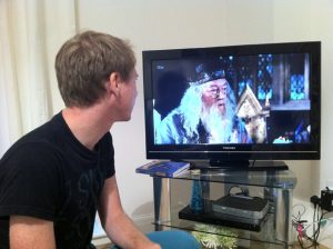 harry potter on the tv in london