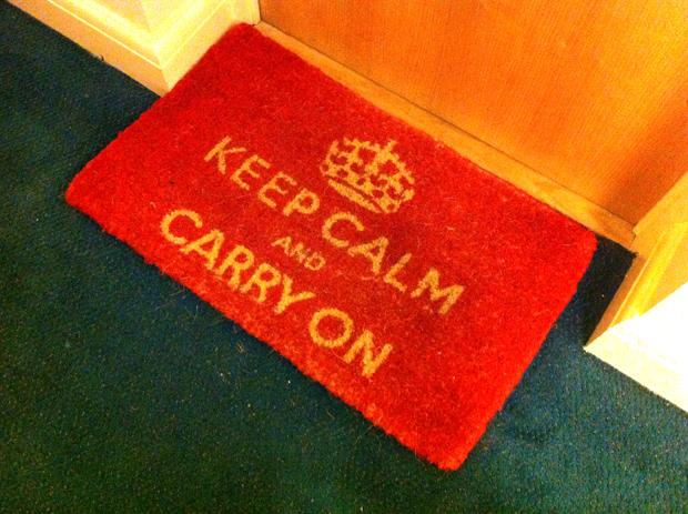 Keep Calm London floormat