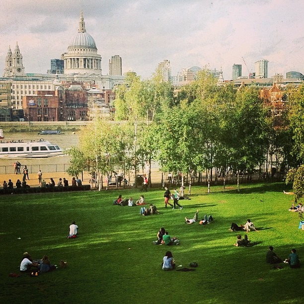 London skyline - view from Tate Modern