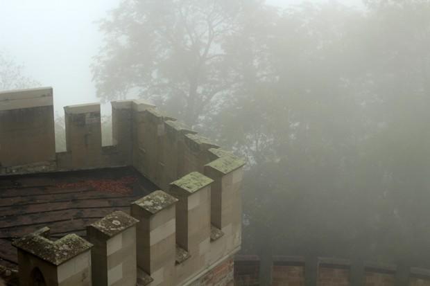 Foggy castle