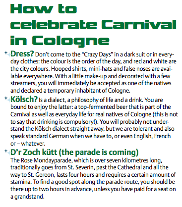 Karneval Köln Tipps