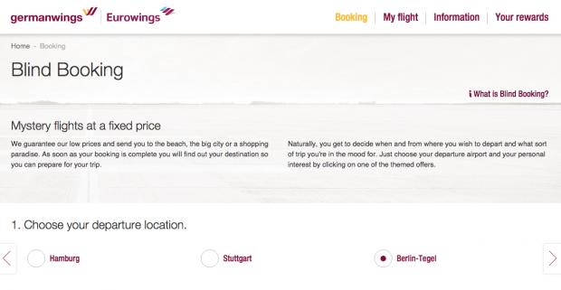 Blind Booking Tricks - Germanwings