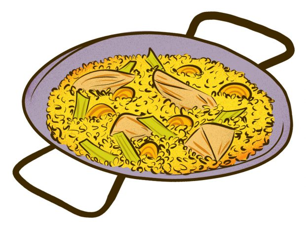 Valencian Paella (Valencia) - Meat & Potatoes - Dishes from 14 Cities Around the World