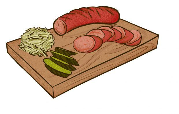 Kielbasa with sauerkraut - Meat & Potatoes - Dishes from 14 Cities Around the World