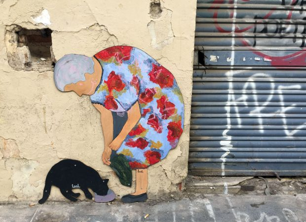 Valencia's old town seems to be as popular of a spot as any for street art
