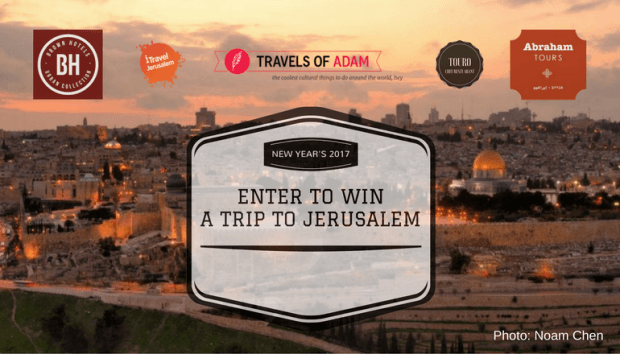 Win a trip to Jerusalem for New Year's Eve! DETAILS: https://travelsofadam.com/city-guides/jerusalem/