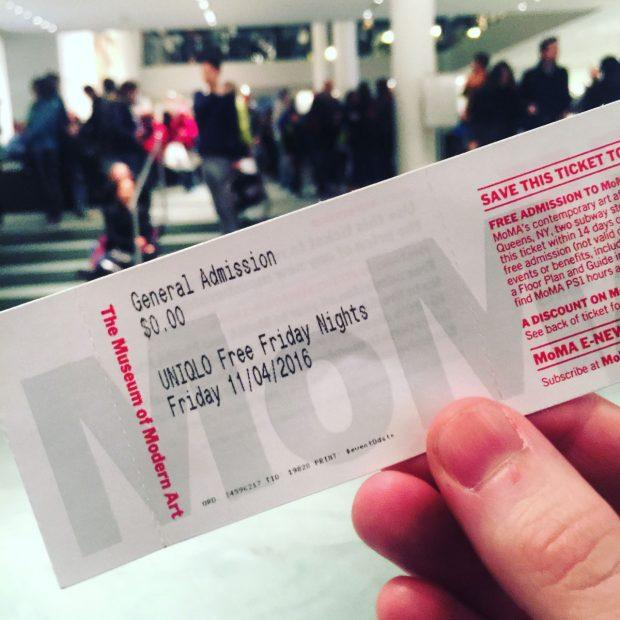 MoMA on Fridays - Cheap Things to do in NYC