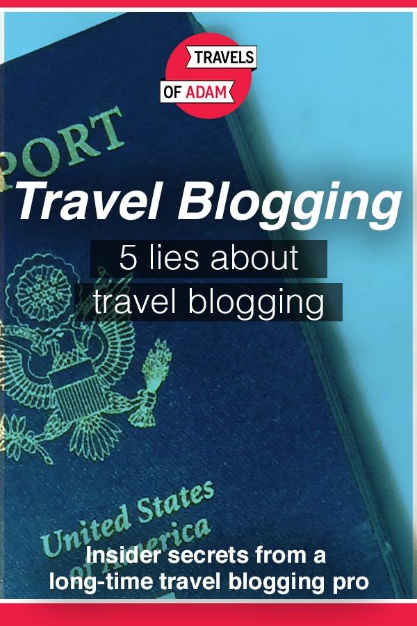 Travel Blogging Lies