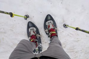 Snowshoeing in Switzerland at Saint-Cergue - Travels of Adam - https://travelsofadam.com/2018/04/snowshoeing-near-geneva/