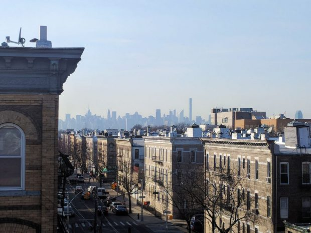 Bushwick, Brooklyn (rooftop view of Manhattan)