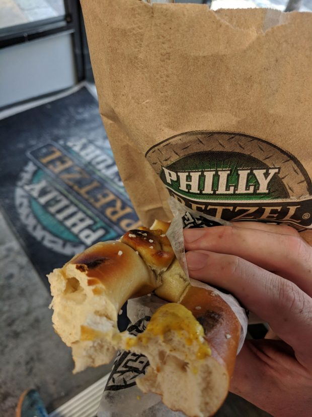 philly famous food - pretzel