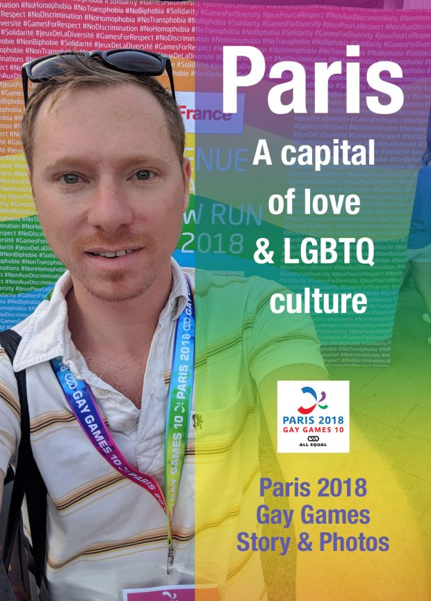 Paris 2018 Gay Games - Travels of Adam