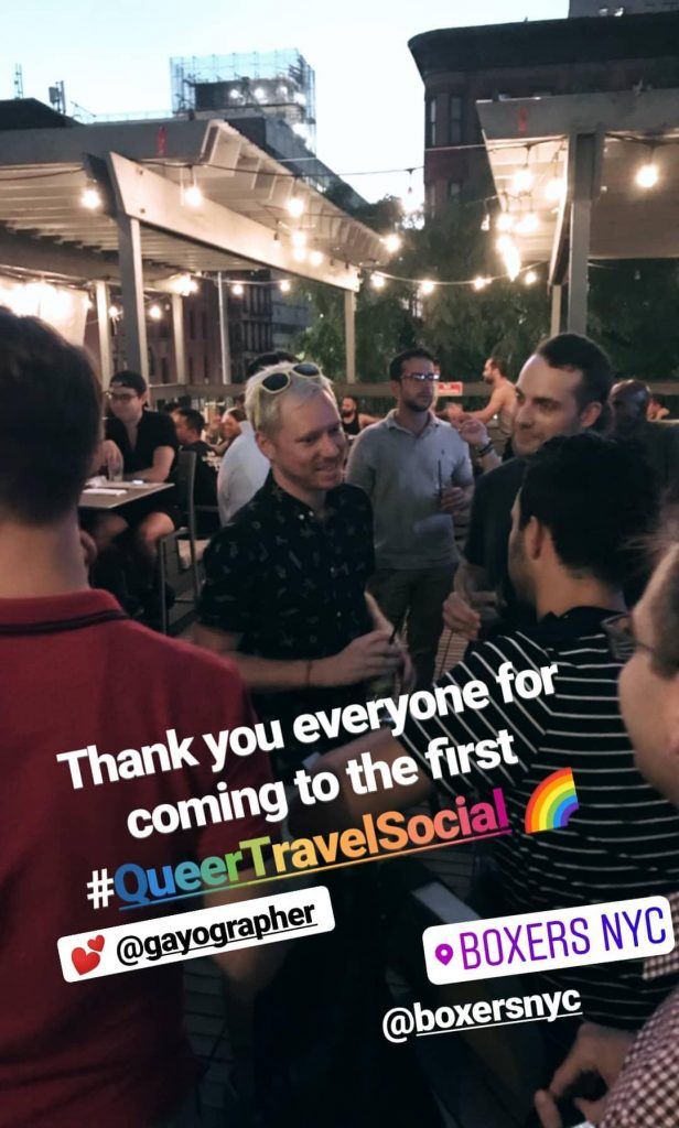 queer travel social - nyc gay happy hour